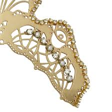 hair combs buy metal hair comb embellished curved hair comb by ost