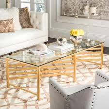 gold glass coffee table buy glass coffee tables from bed bath beyond