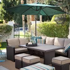 Braddock Heights 7 Piece Patio Dining Set Seats 6 - amazon com dark brown modern all weather wicker aluminum sofa