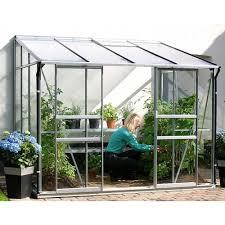 Palram Lean To Greenhouse Aluminium Lean To Green Houses Halls Palram