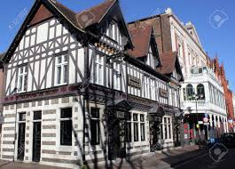 old architecture in the tudor style from the famous city of