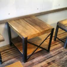 Old Wooden Coffee Tables by Reclaimed Wood And Steel Coffee Table