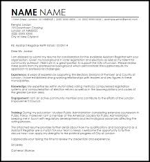 cover letter examples for care assistant assistant registrar cover letter sample livecareer