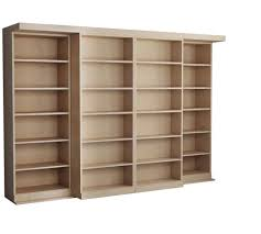 unfinished wood bookcase kit bookcase unfinished wood bookcase invisidoor in x solid cherry