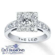leo diamond ring leo engagement ring 1 1 3 ct tw diamonds 14k white gold