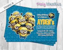 Minions Invitation Card Invitation Card Minions Card Invitation Minions Invitation Card