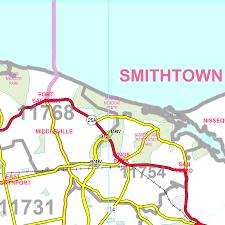 Syracuse Zip Code Map by Long Island Laminated Wall Map For 195 00 At Mcmaps Com