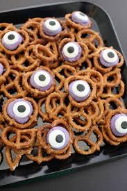 halloween pretzel monster eyes treat recipe hello nature