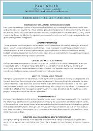 awesome collection of skills and abilities for resume sample for