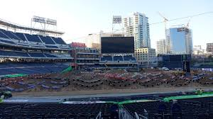 Petco Park Map Petco Park Ready To Host First Supercross Mlb Com