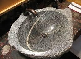 Bathroom Sink Stone 10 Cool Natural Stone Sink Design Ideas Inspirationseek Com