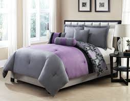 Bed Comforters Full Size Elegant Full Size Bed Frame With Reversible Gray And Purple Bed