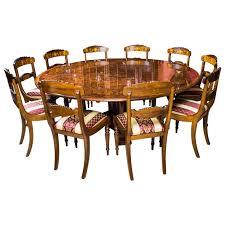 7ft diameter burr walnut jupe dining table u0026 10 chairs