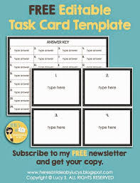 editable task card template free for newsletter subscribers if