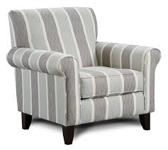Black And White Striped Accent Chair And Gray Striped Accent Chair