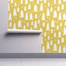 mustard home decor tree trees mustard yellow kids wallpaper by andrea lauren