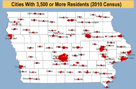iowa map with cities redistricting cities