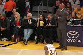 heather dubrow at the lakers game at staples center in los angeles