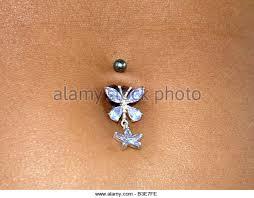 belly button piercing stock photos belly button piercing stock