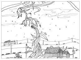 jack and the beanstalk coloring page pages pictures jack and the