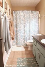 hang two layers of curved shower curtain rod home furniture design