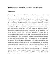 monohybrid and dihybrid cross