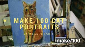 make 100 cat portrait paintings by john kilduff u2014 kickstarter