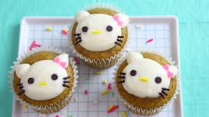 how to make hello kitty pumpkin cupcakes youtube