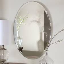 White Oval Bathroom Mirror Beveled Oval Bathroom Mirrors Derektime Design Tips Oval