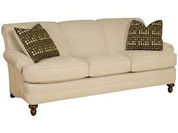 Sofa King Furniture by King Hickory Amanda Casual Rolled Arm Stationary Sofa Zak U0027s Fine