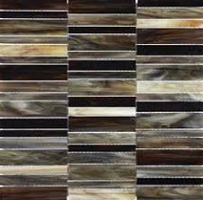 Brown Glass Tile Backsplash by Vitraart Stainedglass Stackedmosaic In Peperino Available At