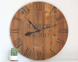 personalized clocks with pictures personalized clock etsy