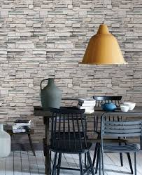stone brick and wood plank wallpaper