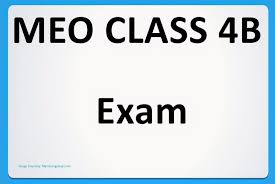 meo class 4 exam eligibility booking results and syllabus