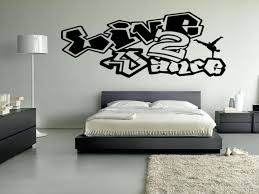 Bedroom Wall Graffiti Stickers Live 2 To Dance Vinyl Wall Decal Sticker Wall Art Breakdance