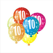 aliexpress com buy 10pcs lot multicolor number latex balloons