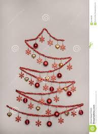 handmad tinsel christmas tree hanging baubles creativity concep