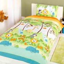 Kids Single Duvet Cover Sets Children U0027s Duvet Cover Set With All The Monkeys And Hippos Your