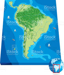 Soth America Map by South America Map Stock Vector Art 472312619 Istock