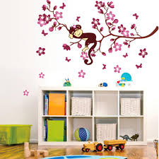 lovely nursery wall decal sticker sweet monkey dreaming tree lovely nursery wall decal sticker sweet monkey dreaming tree branch art poster mural for