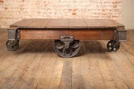 vintage wood coffee table vintage industrial coffee table writehookstudio com