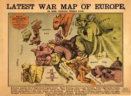 World Map Cartoon by World War I Maps