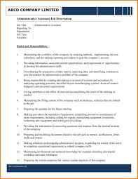 Job Description Nanny 6 Administration Jobs Description Nanny Resumed