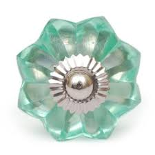 Glass Knobs For Kitchen Cabinets Elegant Green Floral Door Cabinet Glass Knob Knobco