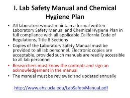 chemical hygiene plan template appendix e chemical hygiene work