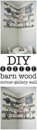 diy rustic barn wood corner gallery wall liz marie blog