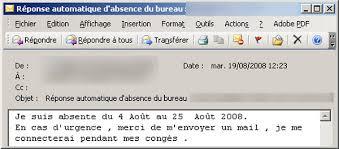 absence du bureau outlook 30 messages d absence originaux pour vos congés mode s d emploi