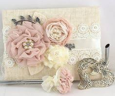 wedding guest book and pen set wedding guest book and pen set shabby chic vintage inspired in