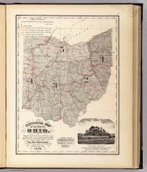 State Of Ohio Map by Map Of The State Of Ohio Whittlesey Chas Slater J 1872
