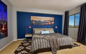 15 blue bedrooms with soothing designs blue accent walls accent